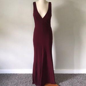 Long Burgandy/Merlot Red Dress